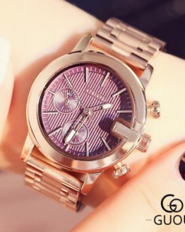 GUOU Brand Luxury Rose Gold Women Watches Fashion