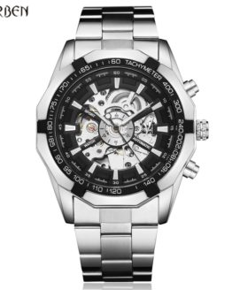 Hot Sale Luxury Luminous Automatic Mechanical Skeleton Dial Stainless Steel