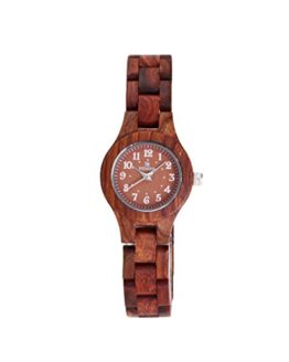 Red Sandalwood Women's Wood Wooden Bracelet Watch