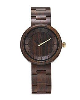 Luxury Natural Handmade Women's Ebony Sandalwood Wrist Watches