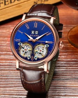 AILANG New Arrival Double Tourbillons Auotmatic Watches Fashion