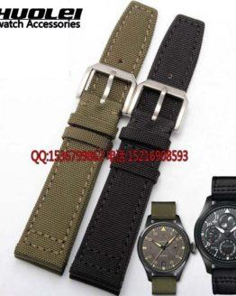 Nylon Durable +genuine leather bottom Men Watchbands,20mm 21mm 22mm