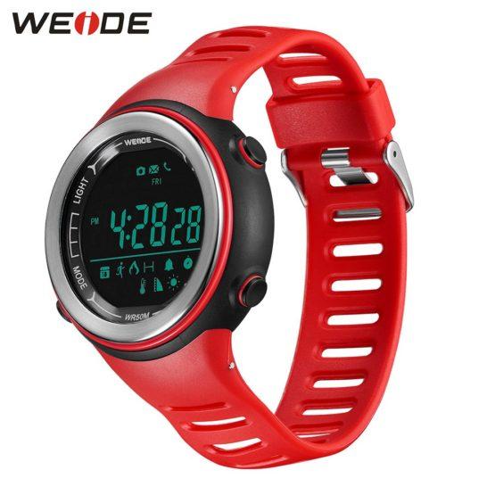 WEIDE Bluetooth Smartwatch Sport Digital Silicone Strap Clock