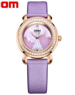 DOM 2018 Fashion Women Waterproof Watch Luxury Brand
