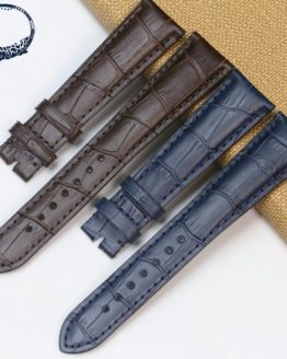 Pesno 20mm Calf Skin Top Layer Leather Watchstrap Black Dark Brown Dark Blue