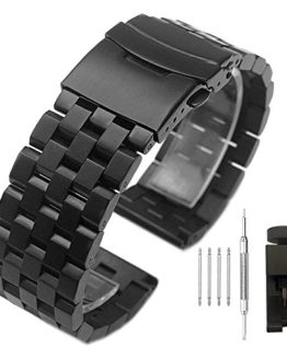 Stainless Steel Watch Band with Double Buckles Deployment