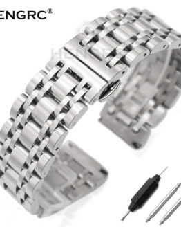 Stainless Steel Watchband Bracelet 20mm 22mm Men Metal Polished