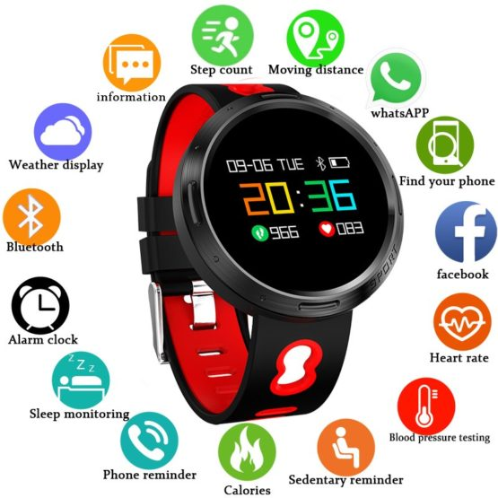 BANGWEI 2019 Men Smart sport Watch Women LED Clock Blood Pressure