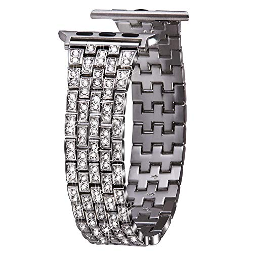 VIQIV Bling Bands for Compatible Apple Watch Band 38mm 40mm 42mm 44mm