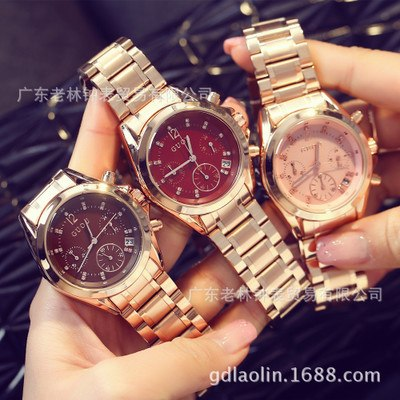 GUOU 2017 New Relogio feminino Women Luxury Brand Fashion watch