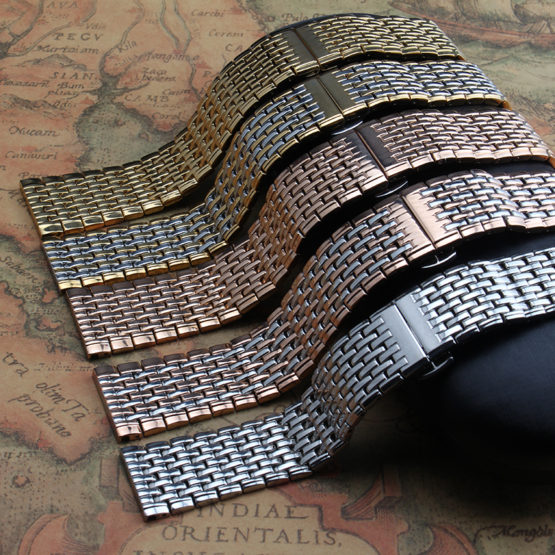 ultra-thin Stainless steel watchband watch belt strap wristwatches band