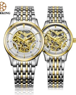 StarKing Luxury Golden Skeleton Automatic Watches Unisex Women