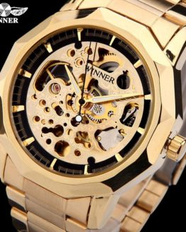 WINNER brand watches men mechanical skeleton wrist watches