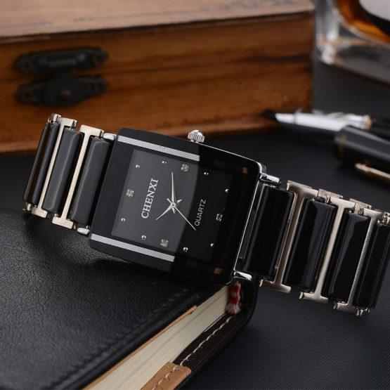 CHENXI Simulated Ceramics 2018 Quartz Watch Men Watches