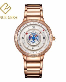 PRINCE GERA Luxury Automatic Mechanical Watch Men Diamond Decoration