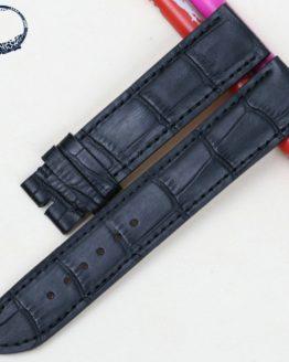 Pesno Genuine Leather Band Watch Strap 19mm Black Men Watchbands For Rolex