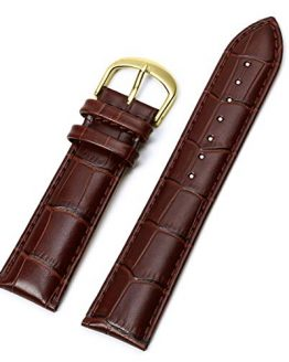 20mm Mens Watch Strap,EACHE 20mm Genuine Leather Watchbands
