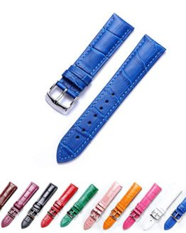 Genuine Calfskin Replacement Leather Watch Strap Multicolor