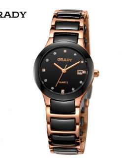 Luxury Ceramic Water Resistant Women Wrist Watch
