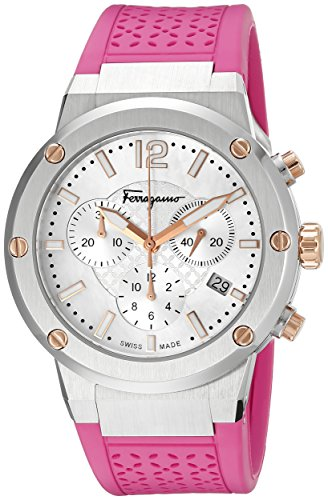 Salvatore Ferragamo Women's F Chrono Analog Display Quartz Pink Watch