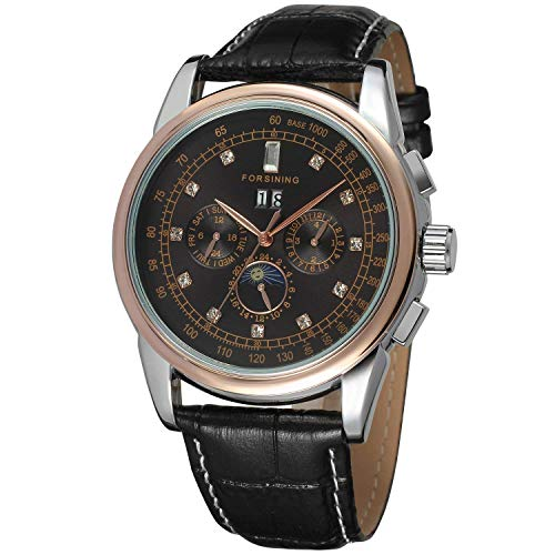 Men's Automatic Leather Band Luxury Mechanical Wrist Watch