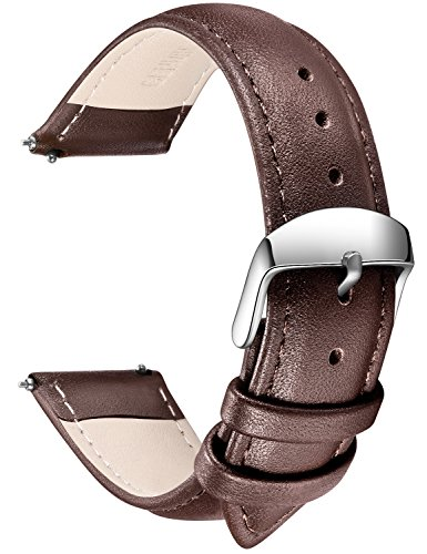 SONGDU Quick Release Leather Watch Band, Full Grain Genuine Leathers