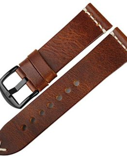 DITOU Watch Band 20mm 22mm 24mm, Vintage Oil Wax Leather