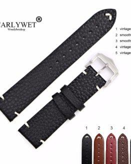 CARLYWET Man Women Handmade Leather VINTAGE Wrist Watch Band Strap