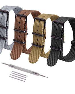 Ritche 4PC 20mm NATO Strap Nylon Watch Band