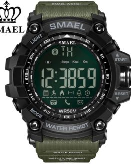 SMAEL Bluetooth Smart Watch Sport Male Clock Call Reminder
