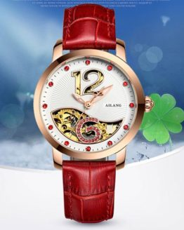 Lovely Bird Fish Hollow Women Mechanical Watches Self-wind Elegant