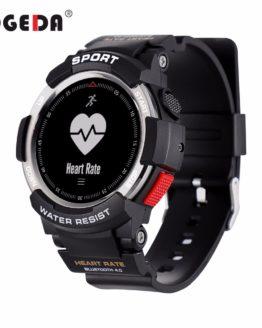 OGEDA Men Watch Bluetooth F6 Smartwatch IP68 Waterproof Heart Rate Monitor