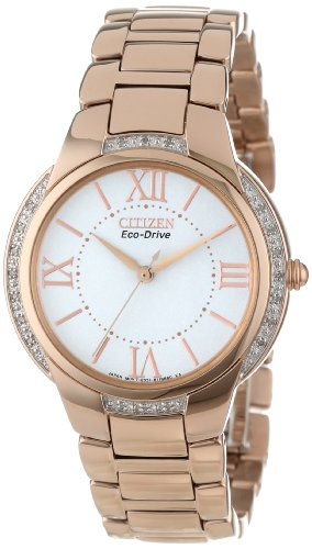 Citizen Women's Ciena Eco-Drive Rose Gold-Tone Watch with Link Bracelet