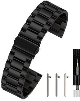 Berfine 24mm Quick Release Watch Strap,Premium Solid Stainless Steel