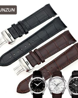 ISUNZUN Men's Watch Bands For Tissot T035 1853 Genuine Leather Watch Strap