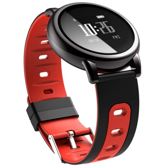 D8 Round Dial Smartwatch Intelligent Silicone Wristband Sport Fitness