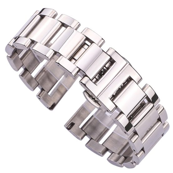 HENGRC Metal Watch Band Bracelet Women Fashion Stainless Steel