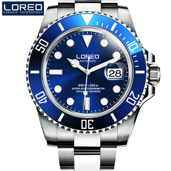 High Quality LOREO Men Watches Top Brand Luxury Sapphire