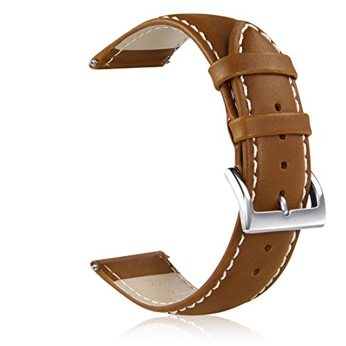 GinCoband Leather Watch Bands,Choice of Width 18mm 20mm 22mm