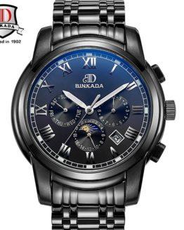 BINKADA Brand Watches Men Mechanical Skeleton Wrist Watches