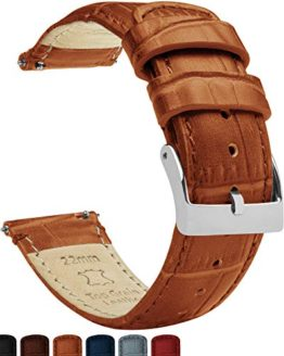 Barton Alligator Grain - Quick Release Leather Watch Bands - Choose Color