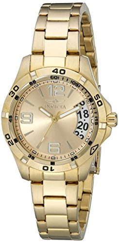 Invicta Women's Specialty 18k Gold Ion-Plated Stainless Steel Watch