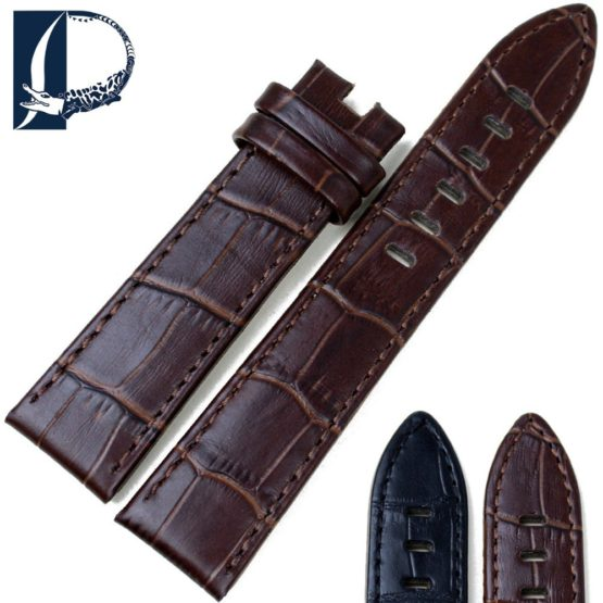 Pesno Genuine Leather Watch Band Black Brown Calf Skin Watch Strap