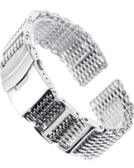 20/22/24mm Silver Stainless Steel Watchband Replacement Bracelet Men