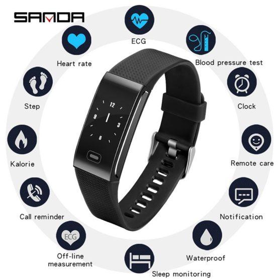 SANDA Smart Watch Men Women Outdoor Sport Fitness tracker