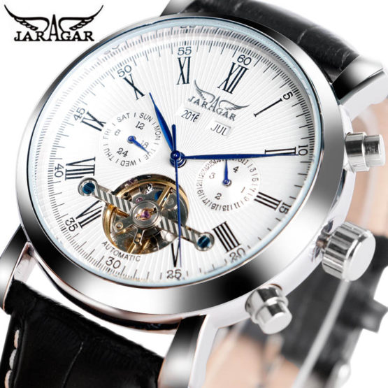 JARAGAR Luxury Brand Fashion Self-wind Mechanical Watches Mens