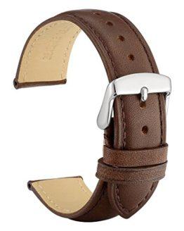 WOCCI 18mm Watch Band - Dark Brown Vintage Leather Watch Strap