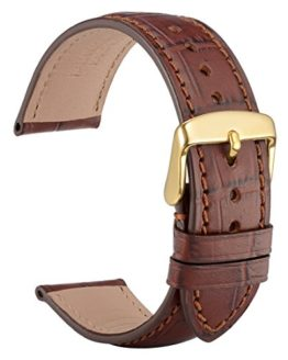 WOCCI 20mm Alligator Embossed Leather Watch Band