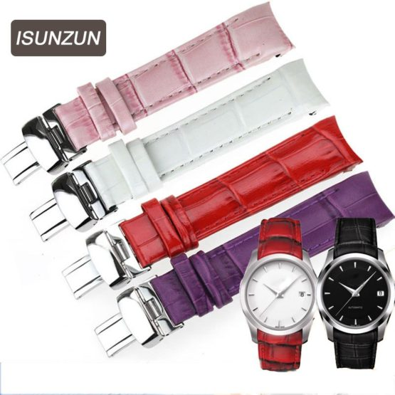 ISUNZUN Women Watch Band For Tissot Watch Strap Genuine leather