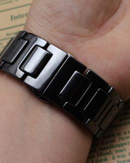 New Top quality Black Ceramic watcbands strap Belt bracelet band women men